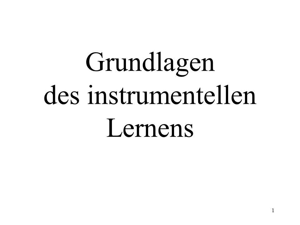2 Gliederung 1.Gründer der Prinzipien des instrumentellen Lernens 2.