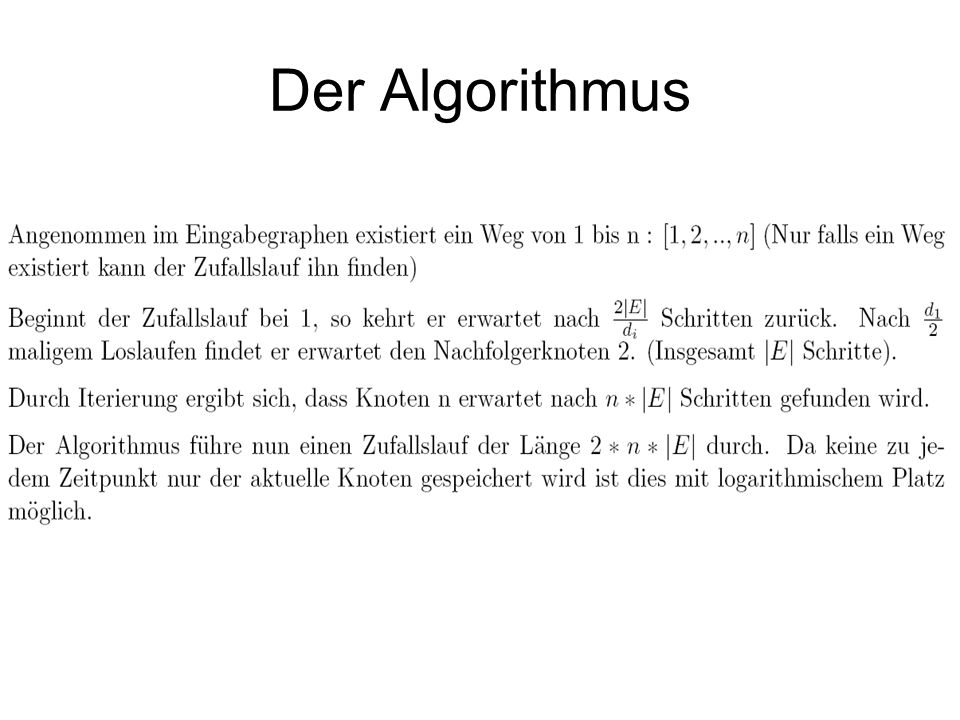 Der Algorithmus