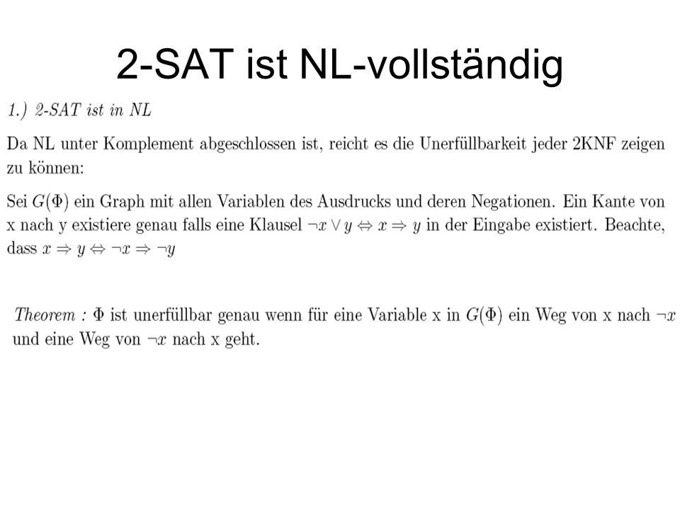2-SAT ist NL-vollständig