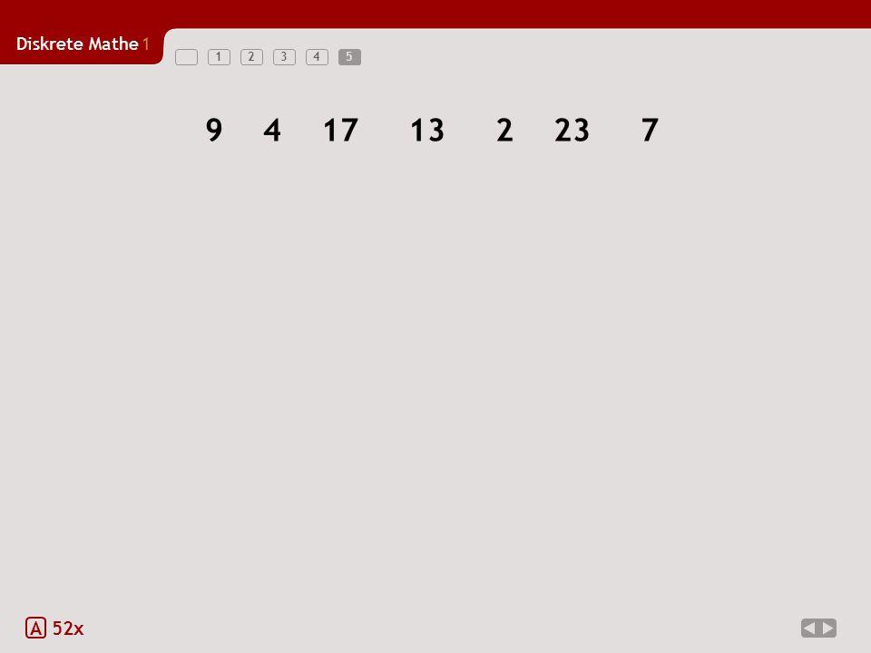 Diskrete Mathe1 123455 A 52x 9417132237