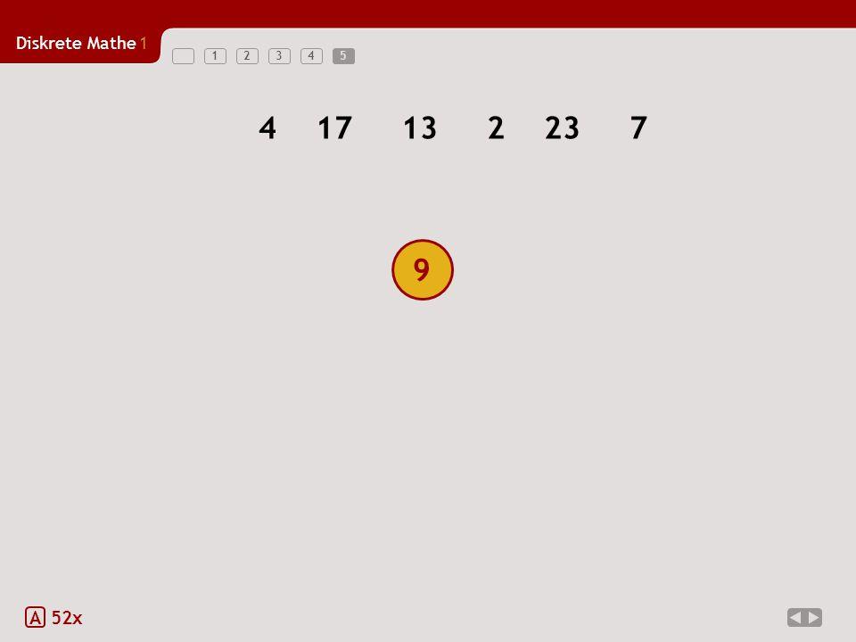 Diskrete Mathe1 12345 9 5 A 52x 417132237 9