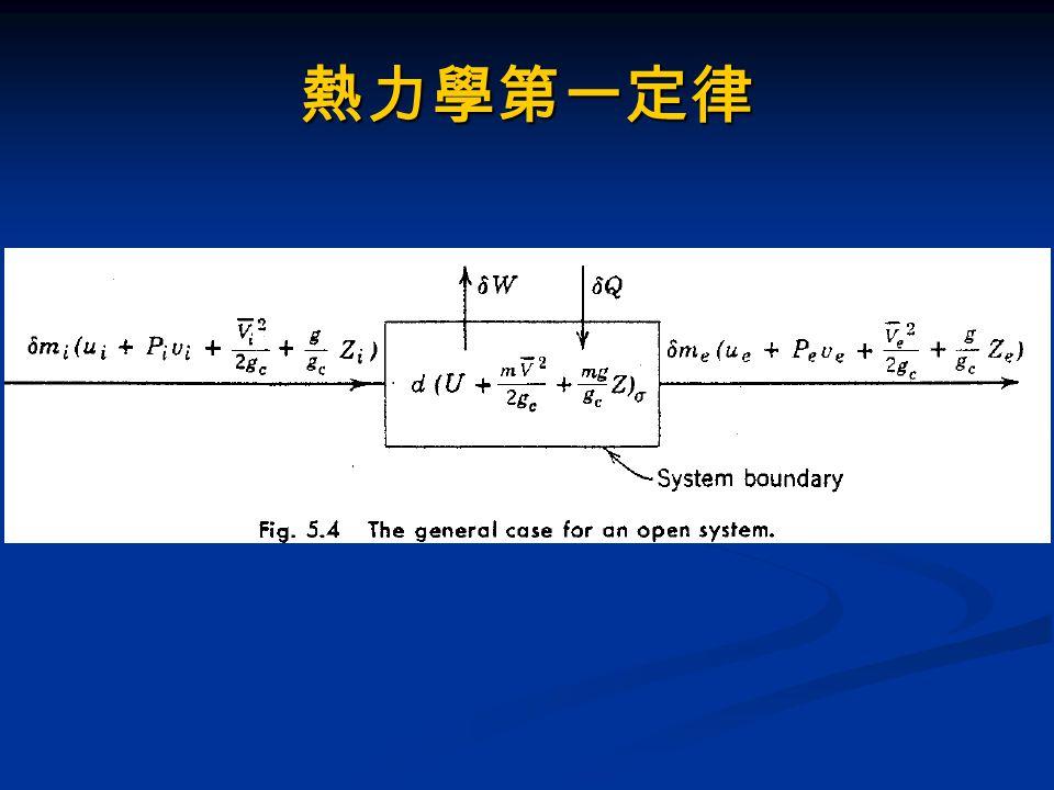 熱力相變化性質 流體可透過加熱或冷卻系統達到相的變化 流體可透過加熱或冷卻系統達到相的變化 不同的溫度與壓力,相變化所需能量也同不同 不同的溫度與壓力,相變化所需能量也同不同 顯熱加熱或冷卻 : 物質僅有溫度變化,無相的改變 顯熱加熱或冷卻 : 物質僅有溫度變化,無相的改變 - 例如空調,製程冷卻水 - 例如空調,製程冷卻水 潛熱加熱或冷卻 : 物質僅有相變化,無溫度的改變 潛熱加熱或冷卻 : 物質僅有相變化,無溫度的改變 - 例如鍋爐、冷凝器等 - 例如鍋爐、冷凝器等