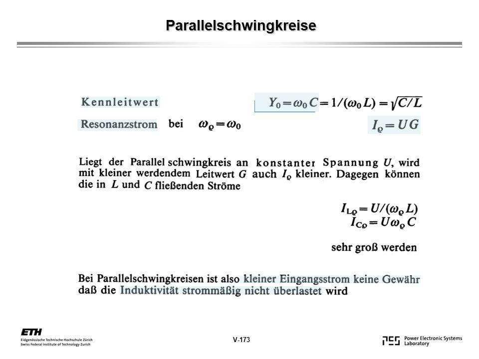 Parallelschwingkreise V-173