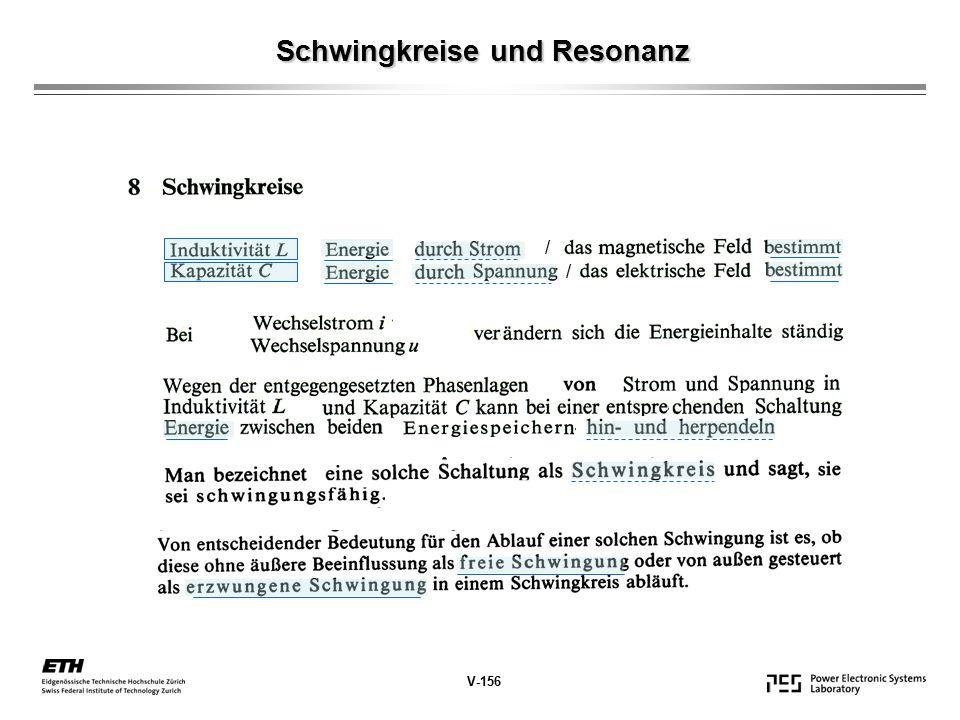 Schwingkreise und Resonanz / / V-156