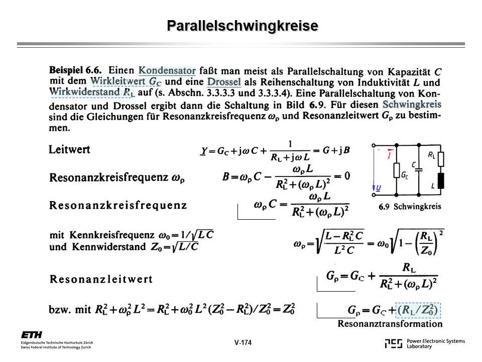 Parallelschwingkreise V-174