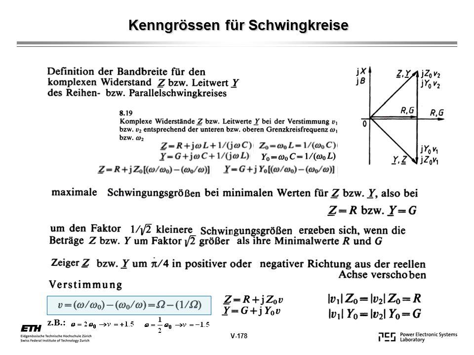 Kenngrössen für Schwingkreise V-178 z.B.: