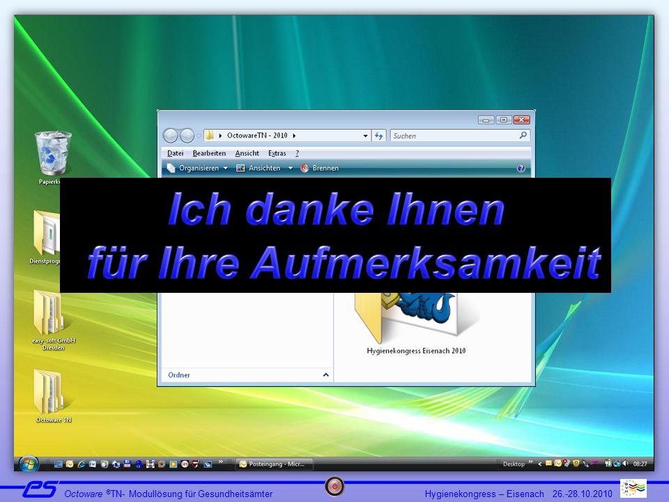 Hygienekongress – Eisenach 26.-28.10.2010 Octoware ® TN- Modullösung für Gesundheitsämter