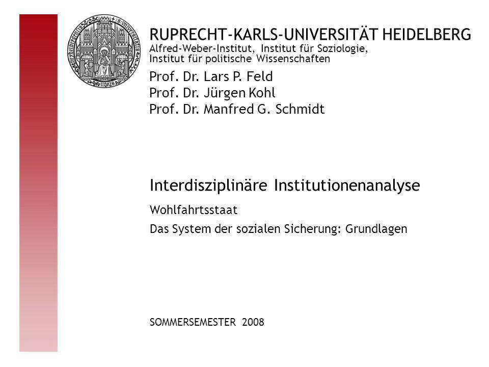 RUPRECHT-KARLS-UNIVERSITÄT HEIDELBERG Prof.Dr. Lars P.