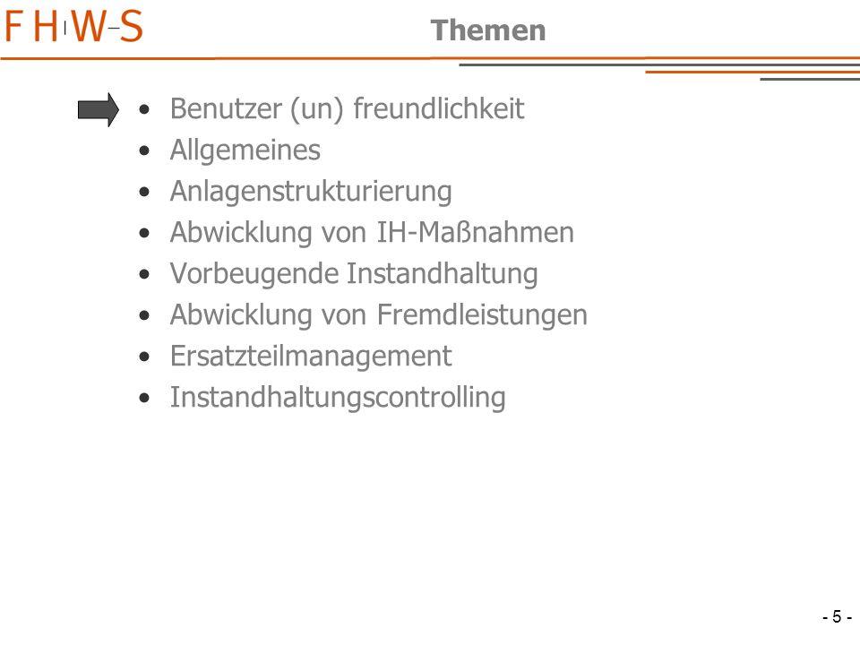 - 46 - Listbearbeitung Techn.