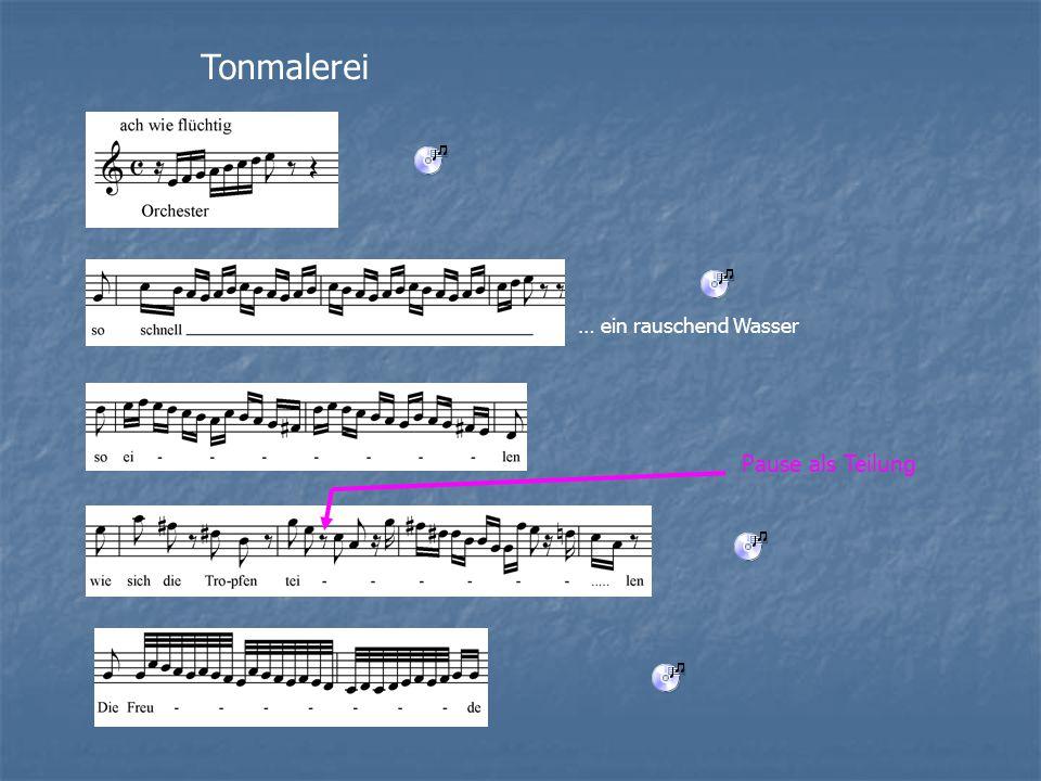Tonmalerei … ein rauschend Wasser Pause als Teilung