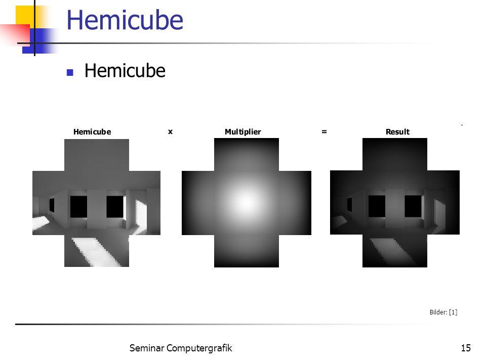 Seminar Computergrafik15 Hemicube Bilder: [1]