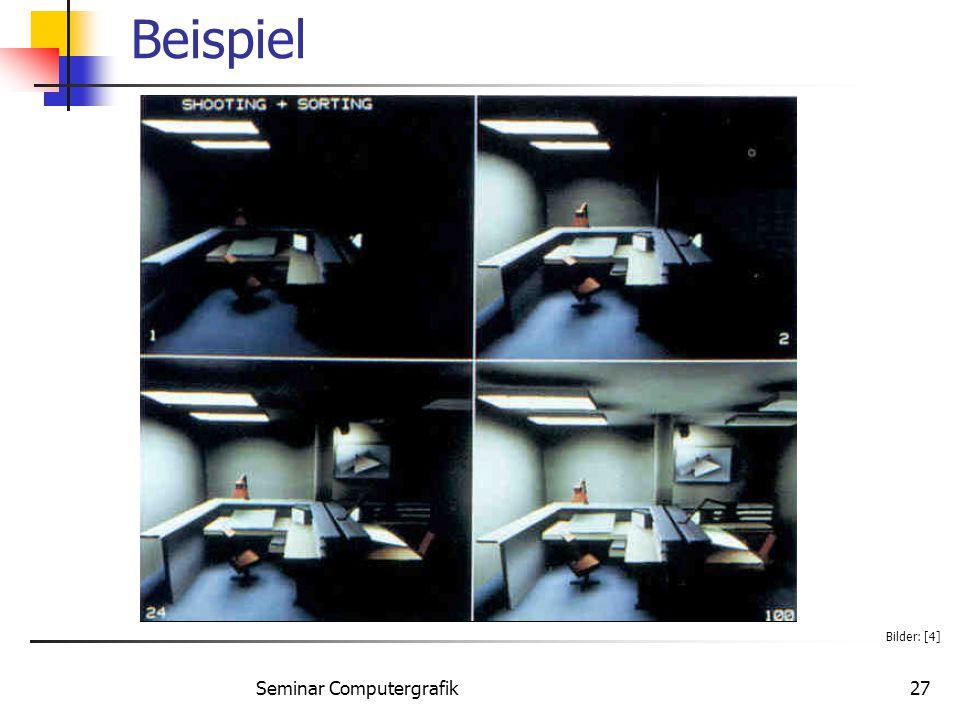 Seminar Computergrafik27 Beispiel Bilder: [4]