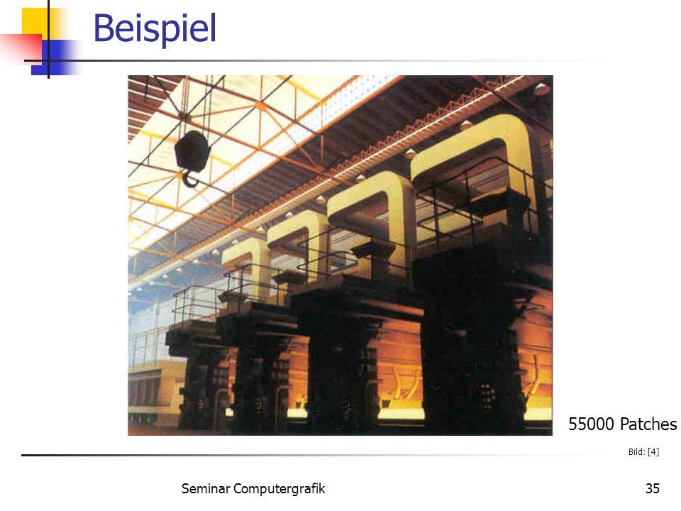 Seminar Computergrafik35 Beispiel 55000 Patches Bild: [4]