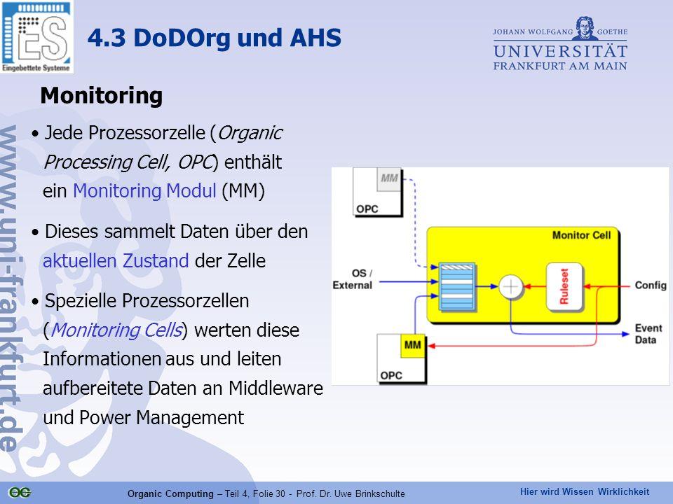Hier wird Wissen Wirklichkeit Organic Computing – Teil 4, Folie 30 - Prof.
