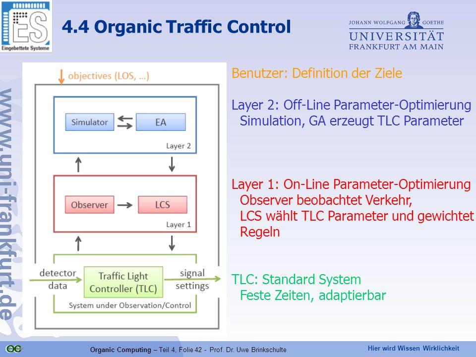 Hier wird Wissen Wirklichkeit Organic Computing – Teil 4, Folie 42 - Prof.