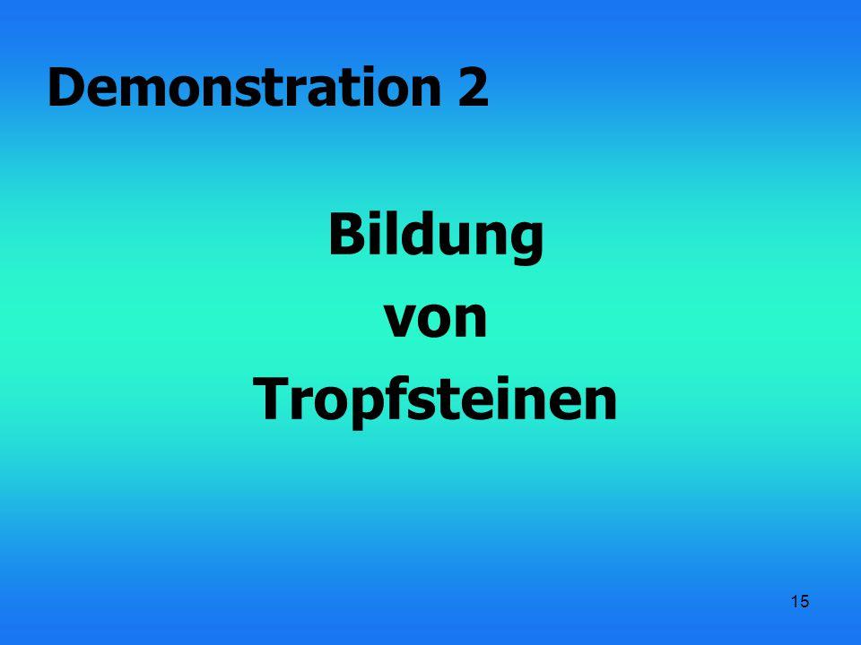 15 Bildung von Tropfsteinen Demonstration 2