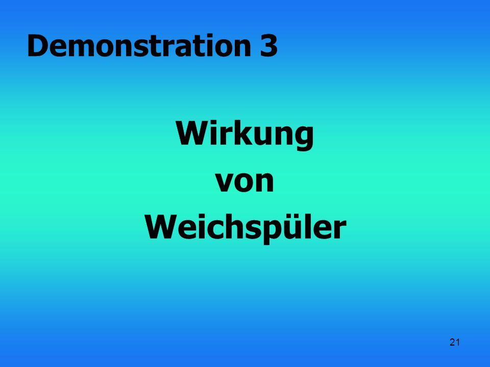 21 Wirkung von Weichspüler Demonstration 3