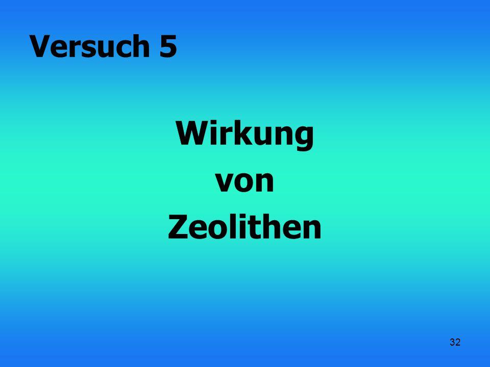32 Wirkung von Zeolithen Versuch 5