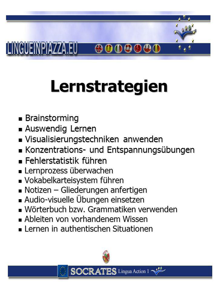 Lernstrategien Brainstorming Brainstorming Auswendig Lernen Auswendig Lernen Visualisierungstechniken anwenden Visualisierungstechniken anwenden Konze
