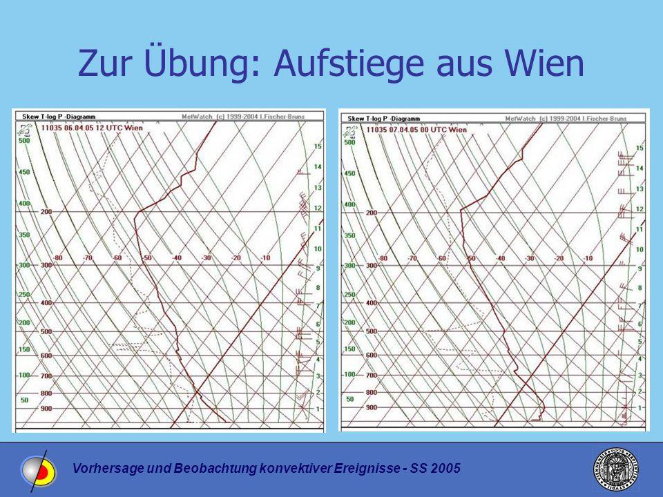 Vorhersage und Beobachtung konvektiver Ereignisse - SS 2005 Wolkenbilder