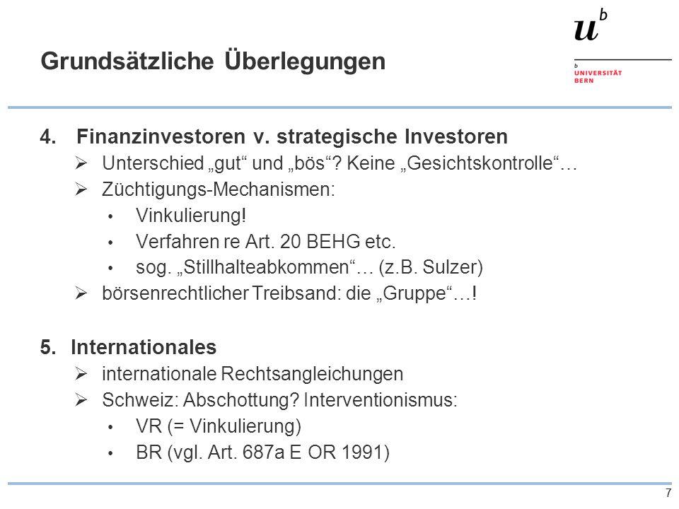 77 Grundsätzliche Überlegungen 4. Finanzinvestoren v.