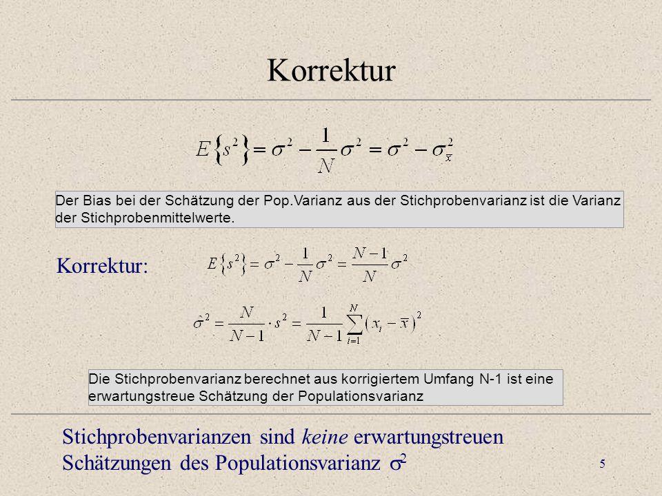 """6 Varianz der Stichprobenmittelwerte Population Stichprobe des Umfangs N Tue dies k - mal: Verteilung von Stichprobenmittelwerten """"Kennwerteverteilung Varianz Der Faktor 1/N bezieht die Populationsvarianz auf die Varianz der Stichprobenmittel Varianz Für N = 1 sind beide Varianzen gleich Für N  geht die Varianz der Mittelwerte gegen Null."""