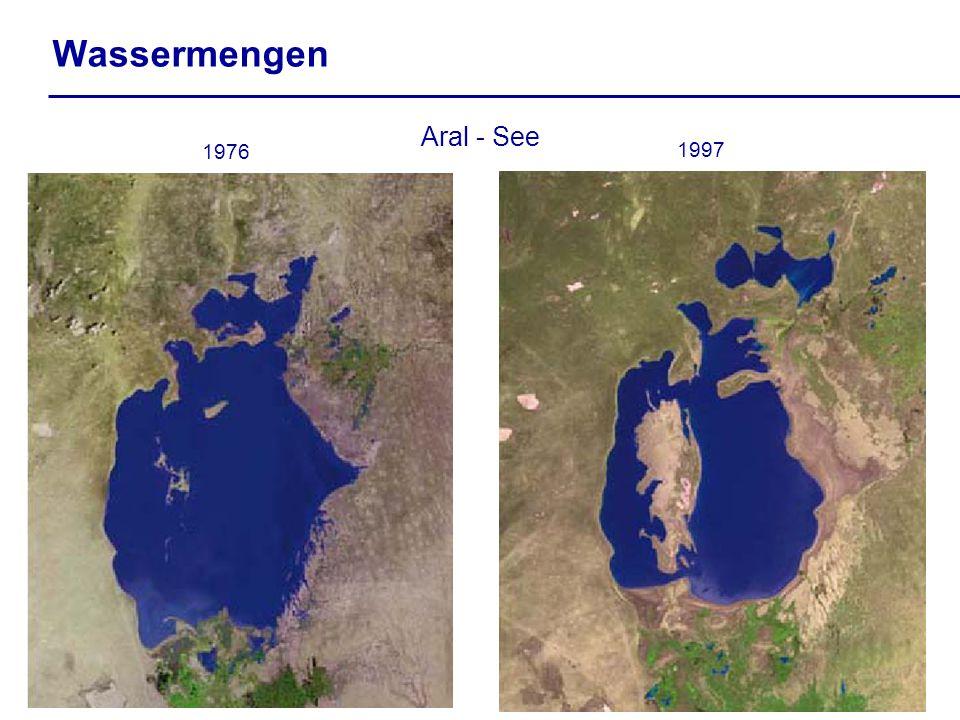 Wassermengen Aral - See 1997 1976