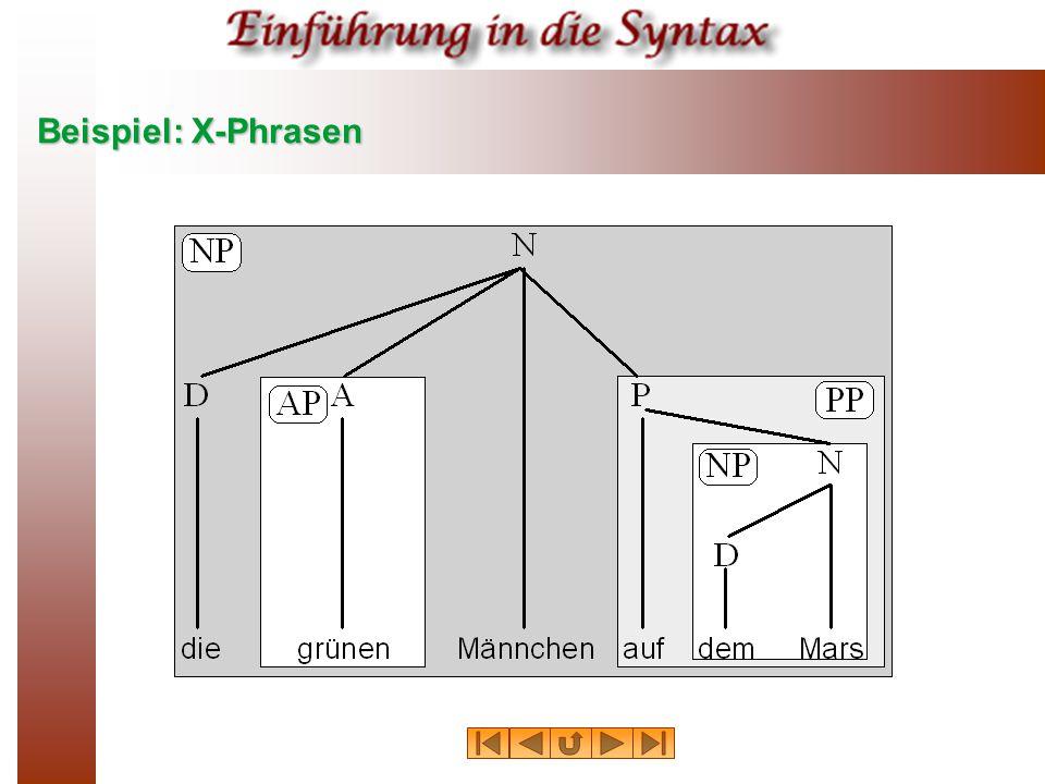 Beispiel: X-Phrasen