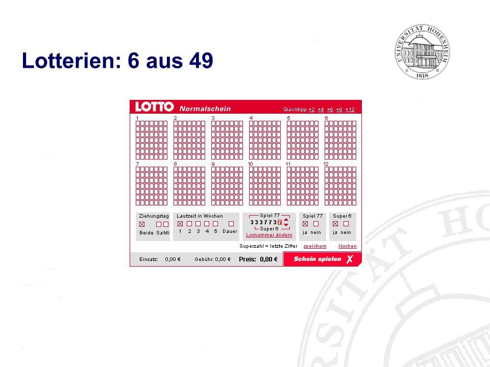 Lotterien: 6 aus 49