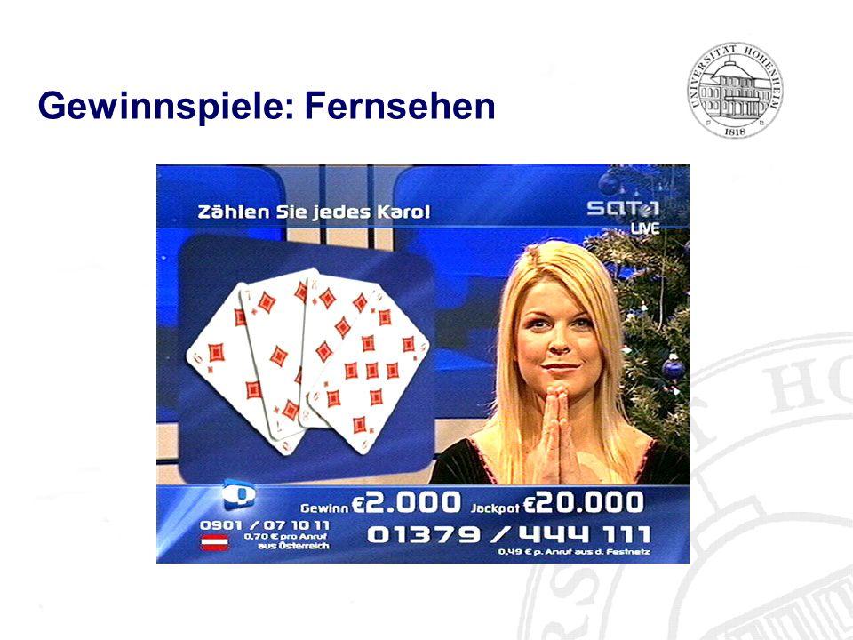 Gewinnspiele: Fernsehen