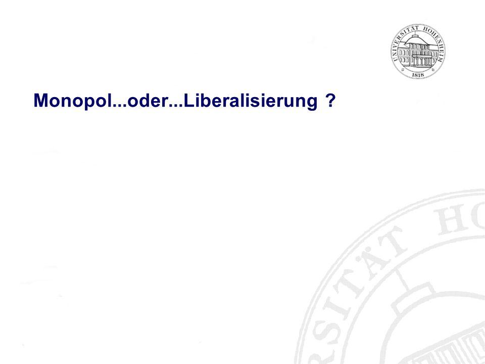 Monopol...oder...Liberalisierung