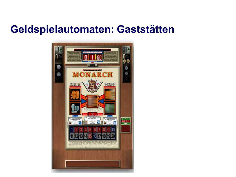Geldspielautomaten: Gaststätten