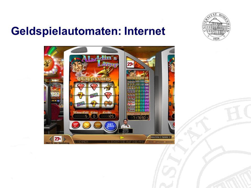 Geldspielautomaten: Internet