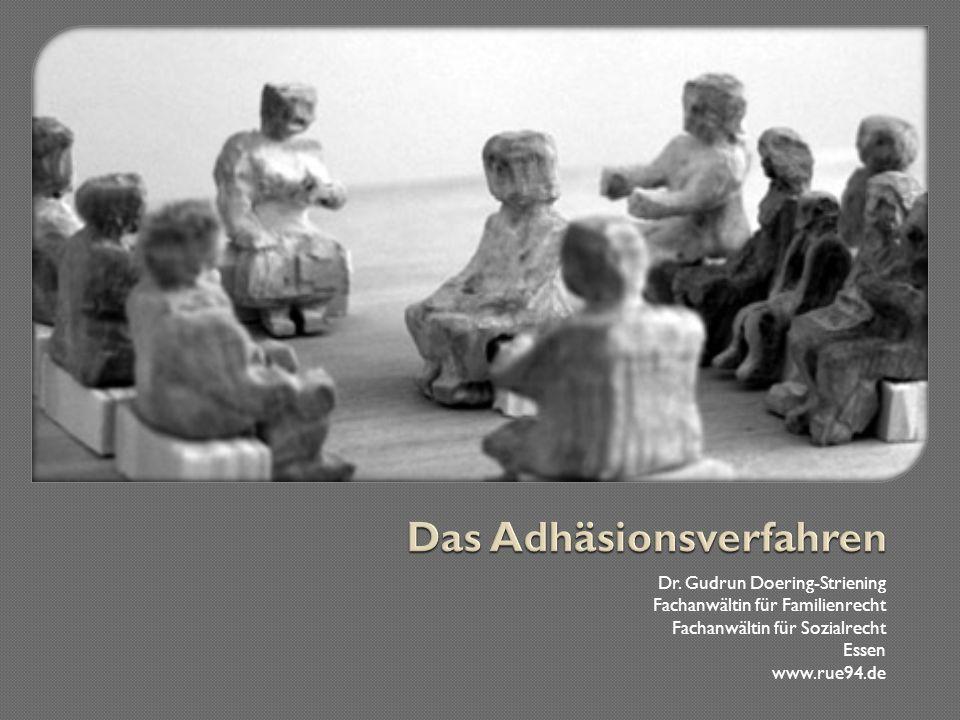 Das Adhäsionsverfahren nach §§ 403 ff.