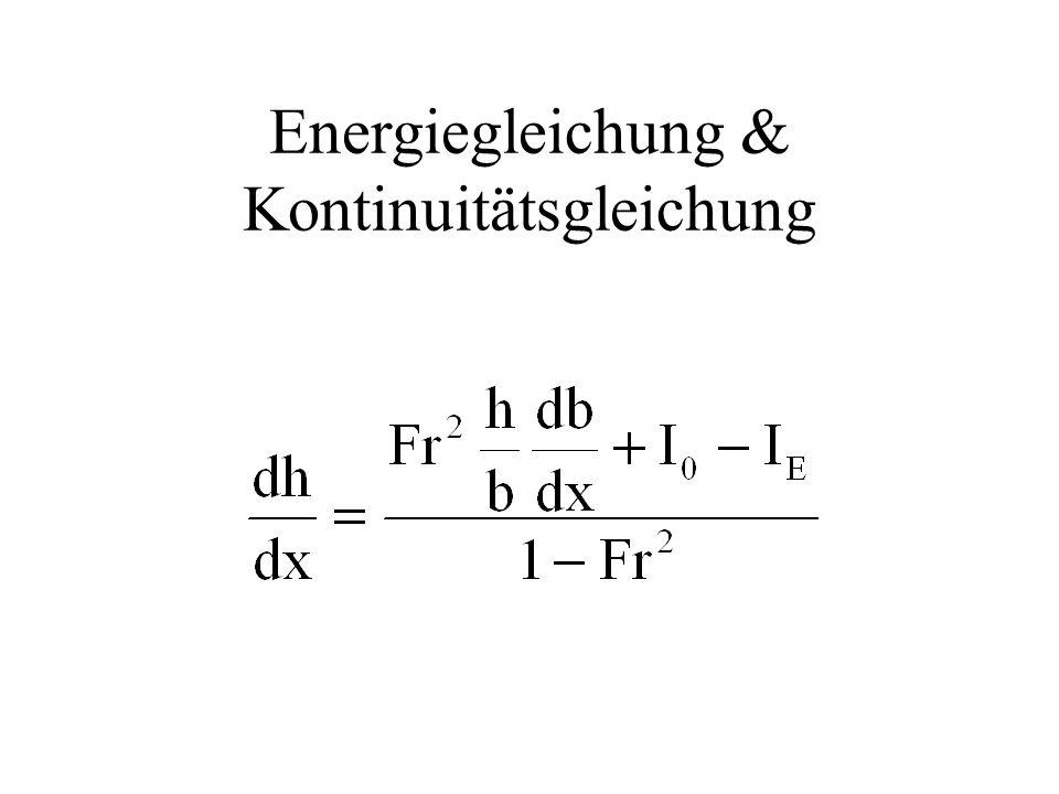 Energiegleichung & Kontinuitätsgleichung