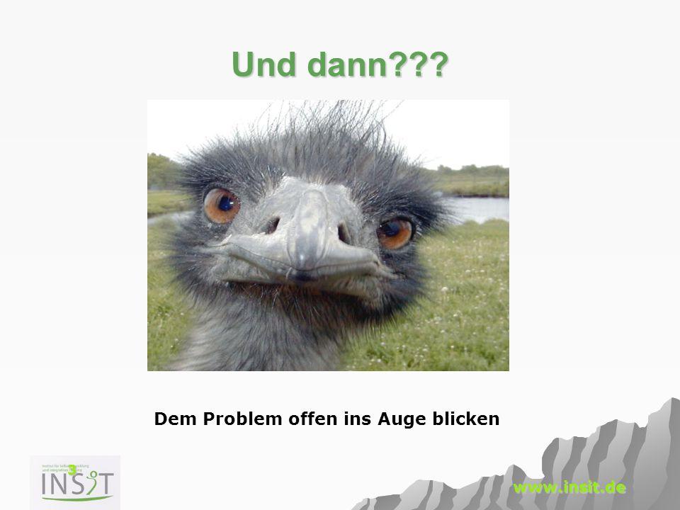 3 www.insit.de Und dann??? Dem Problem offen ins Auge blicken