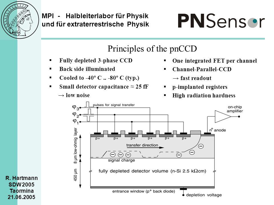 MPI - Halbleiterlabor für Physik und für extraterrestrische Physik R. Hartmann SDW 2005 Taormina 21.06.2005  Fully depleted 3-phase CCD  Back side i