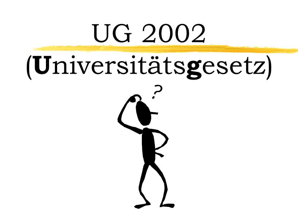 UG 2002 ( U niversitäts g esetz)