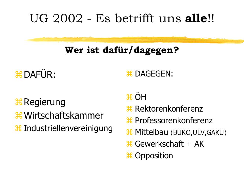 UG Es betrifft uns alle !.