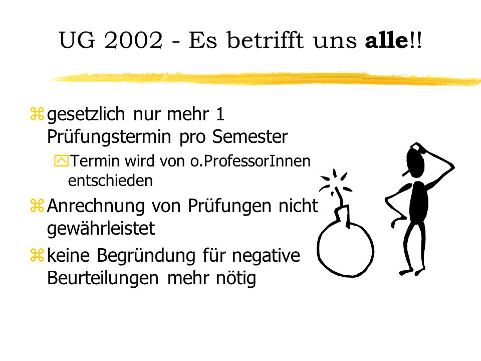 UG 2002 - Es betrifft uns alle !.