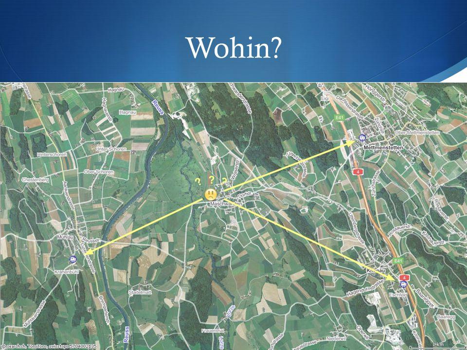 Lösungsansätze  Immer an den gleichen Bahnhof (für konservative)  SBB fragen  Von Maschwanden aus