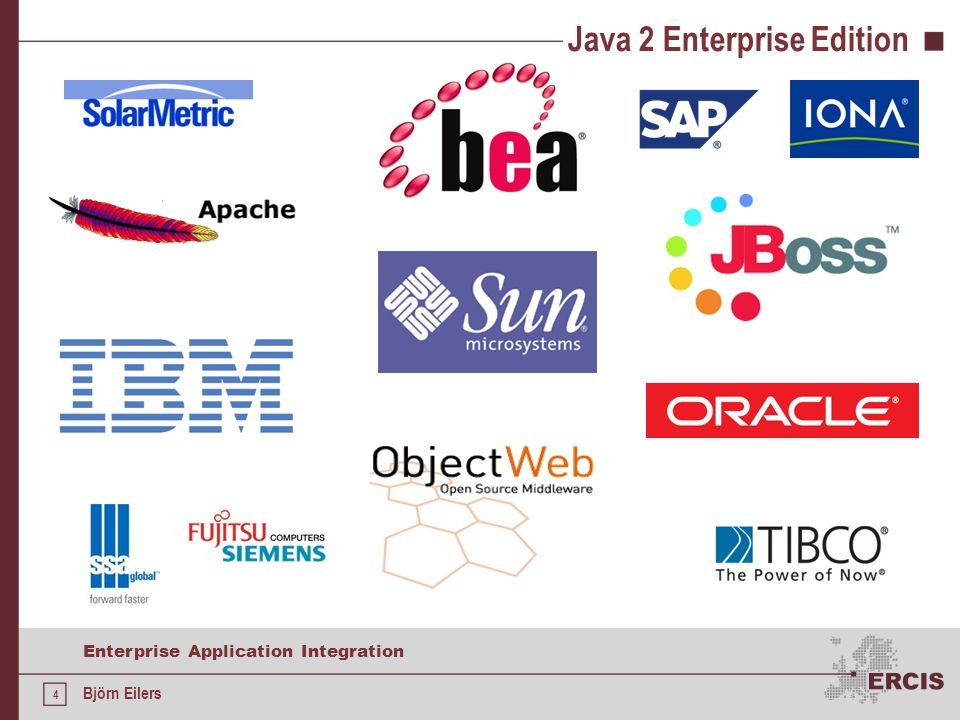 4 Enterprise Application Integration Björn Eilers Java 2 Enterprise Edition