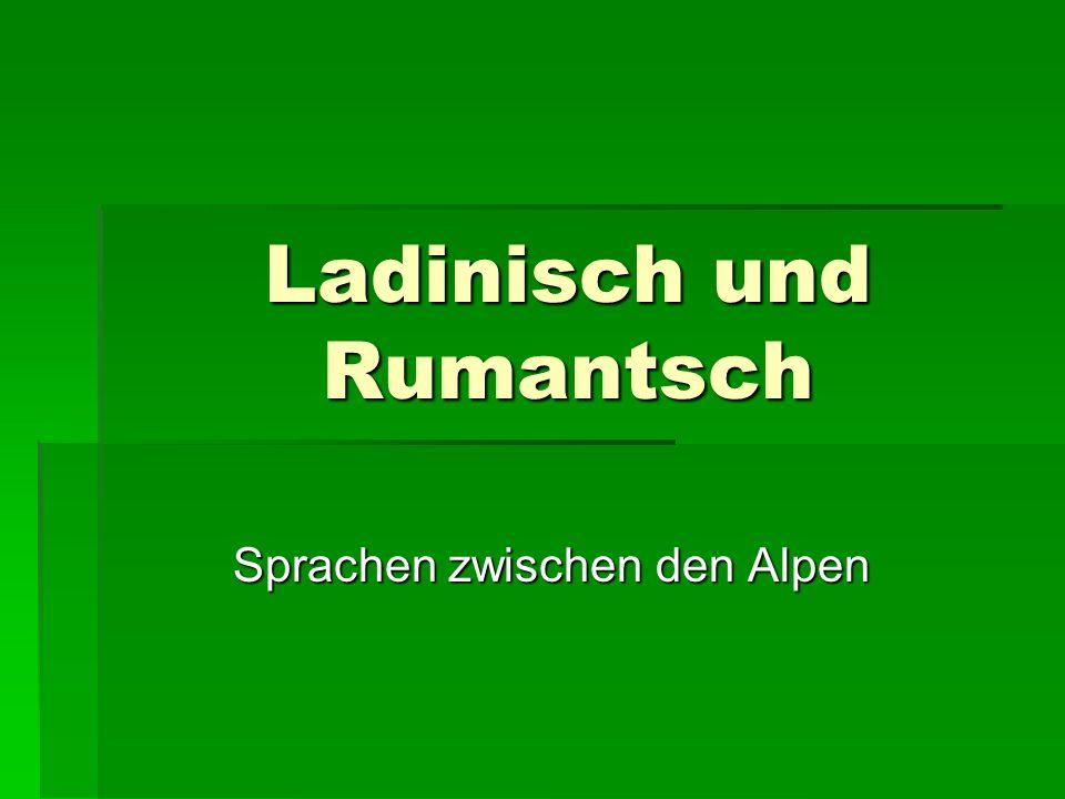 Ladinisch und Rumantsch Sprachen zwischen den Alpen