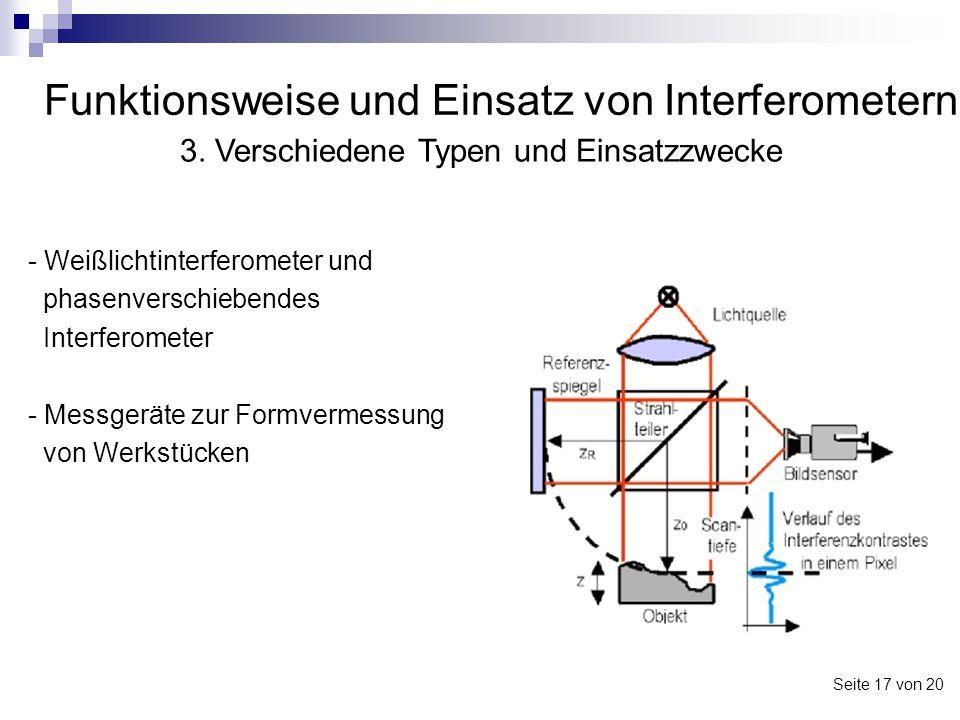 Funktionsweise und Einsatz von Interferometern - Weißlichtinterferometer und phasenverschiebendes Interferometer - Messgeräte zur Formvermessung von W