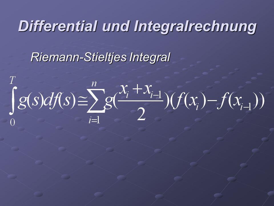 Differential und Integralrechnung Riemann-Stieltjes Integral