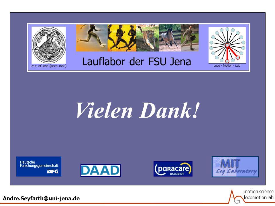 Andre.Seyfarth@uni-jena.de motion science locomotion lab Lauflabor der FSU Jena Vielen Dank!