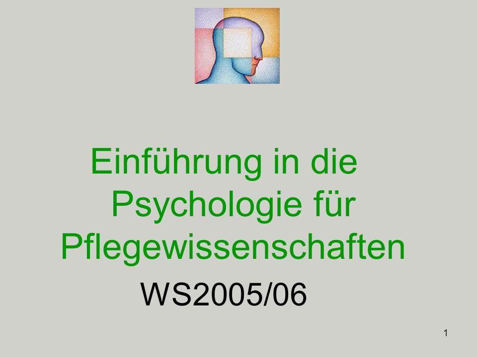 2 Einheit 2: 21. Oktober, 2005 Lernen und Verhaltensanalyse