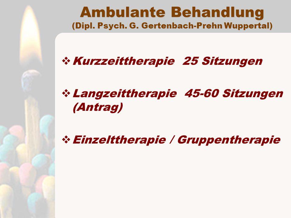 Ambulante Behandlung (Dipl.Psych. G.