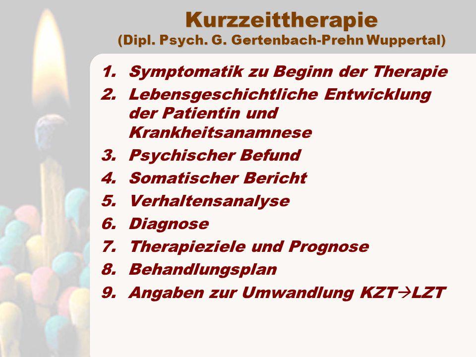 Kurzzeittherapie (Dipl.Psych. G.