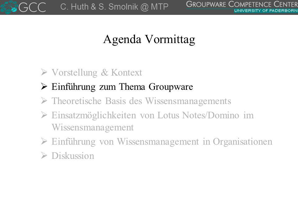 Fragen, Bemerkungen und Diskussion GCC @ Web: http://gcc.upb.de Carsten Huth – Stefan Smolnik Universität Paderborn Wirtschaftsinformatik 2 – FB 5 Prof.